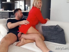 Cheating MILF and stepdaughter - threesome adventure