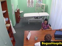 Euro patient pussylicking and fingering nurse