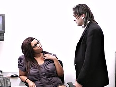 married boss is cheating with fat ebony secretary