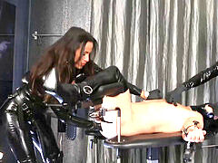 blonde and brunette mistress strap-on spandex sub hardcore femdom pegging