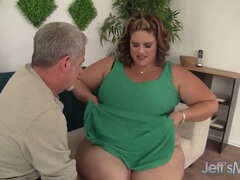 Old Pensioner Wishes Huge Plumpy Body Of BBW Whore