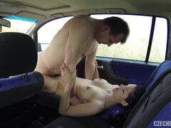 Street Mega-Bitch Obeys Client In Van
