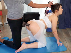 Valentina Nappi gets assfucked doggystyle on the floor