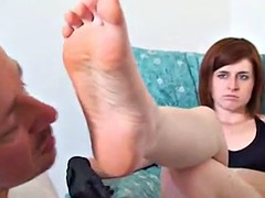 Foot fetish and face slapping