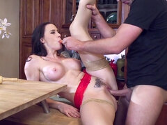 Chanel Preston gets fucked hard in the kitchen