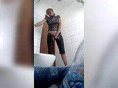 Hidden camera in the toilet