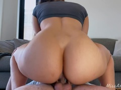 HE CAN'T HANDLE MY TIGHT PUSSY... - CREAMPIE 4K