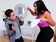 Angry Milf Fucking Her Stepson Hard