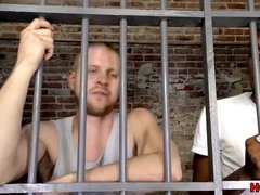 interracial queer romp in the prison