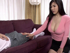 guy pulverizes ginormous Titty Stepsister Anri Okita Repeatedly