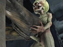 Hot 3D Alien Girl Gets Fucked by a Martian