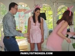 FamilyStrokes - Hot Teen Fucked By Easter Bunny Uncle