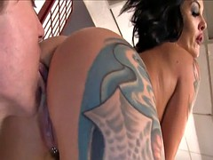 Tatoo Mistress is mean bitch to her slave part 2
