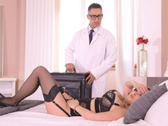 Busty hottie Candy Alexa jumps on a big dick of her lovely boss