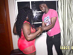youthful and furry muscled room service guy gets fucked by ebony sugar mama in lagos hotel