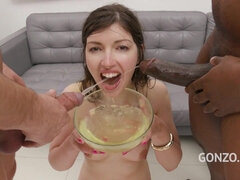 Arousing Crazy European Susan Ayn Pissing Gangbang