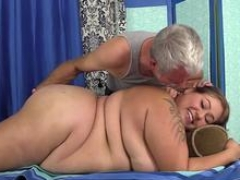 A Sex Crazed Masseur Gives a Dirty Rubdown to Wonderfully Plump Veruca Darling