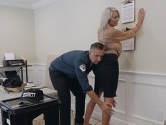Mall cop should check if blonde bombshell has good in her panties