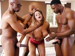 Brooklyn Chase Interracial Gang-fuck