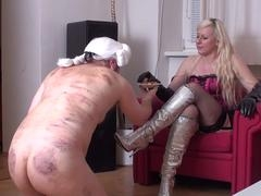 Female domination Fetish Broads humiliate slaves