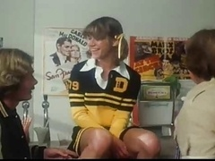 Marilyn Chambers As A Cheerleader Takes On 2 Dudes