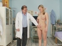 Zaneta has her love hole gyno speculum examined by aged doctor
