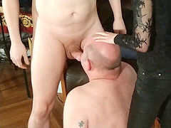 Beth nasty - mistress help her boyfriend to facefuck her father's mouth hard pt1 HD