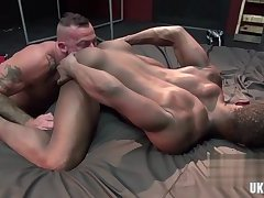 Muscle gay rough sex and cum inside