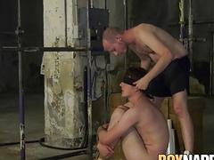 Twink tied and wrapped for throatfuck