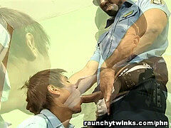 twink Getting His cock-squeezing ass Fucked By A Cop