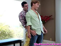 Twink twink Marco Russo assfucked at home