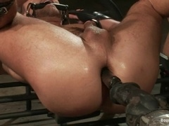 Jessie Colter gets his butt toyed and fucked by Leo Forte in BDSM scene