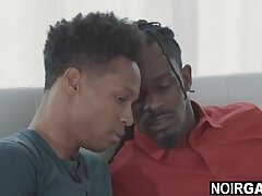 Black step brother caught watching gay porn