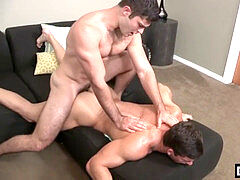 Muscle queer anal fuck-a-thon and facial cumshot