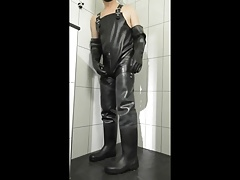 Playing wet in rubber and waders