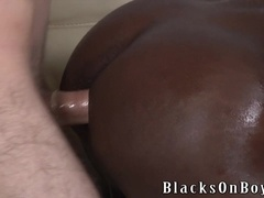 Two horny twinks enjoy fucking a black dude's hot ass
