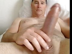 husband strokes mature cock 2
