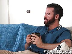Handsome stepdad raw fucking the cum out of horny twink