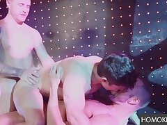 Threesome and some DP of a young hot gay man
