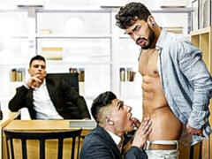 Three-way gay anal with Paddy O'Brian, Ken Summers, and Pietro Duarte