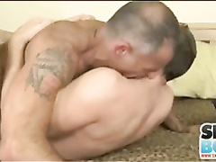 Super-Steamy mature guy fellates and pounds junior man