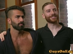 Dominated stud gets restrained and edged