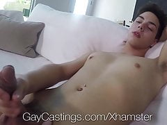 GayCastings Newcomer swallows casting agent