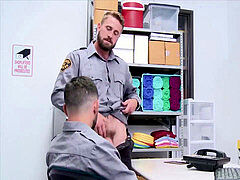 Cop jams His fuckpole inwards Another Cop