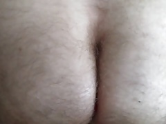 Teasing my buddy's  hairy ass with  Aneros prostate massager