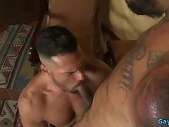 Muscle bear bareback and anal cumshot