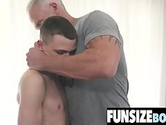 Tiny boy 69 with giant cock old silverdaddy-